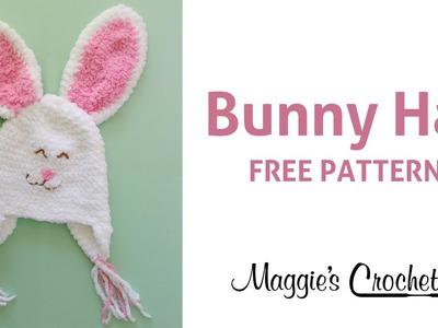 Bunny Hat Free Crochet Pattern - Right Handed