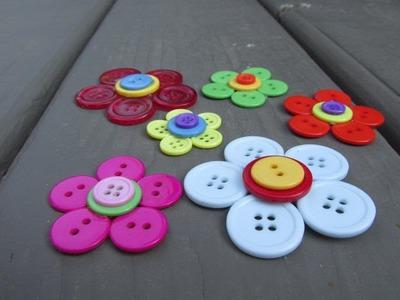 Button Flower Craft Tutorial