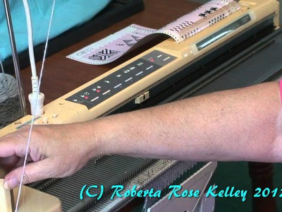 Casting On and using the Studio Electronic Knitting Machines