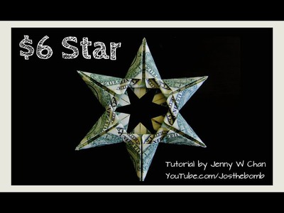 Christmas Crafts - DIY How to Make Star Money Origami - Dollar Origami - Gift. Decoration Tutorial