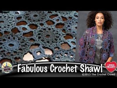 Circular Motif Shawl Crochet Tutorial