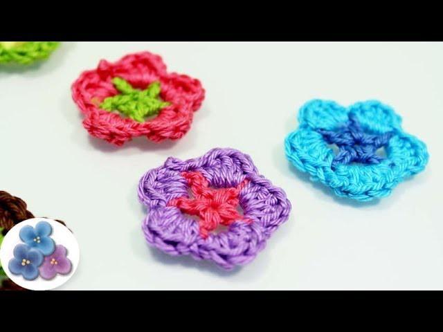 Como Hacer Flores de Crochet How to Crochet a Flower DIY Flores