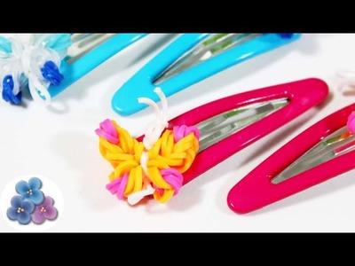 Como Hacer Pinzas de Mariposas con Gomitas sin Telar Rainbow Loom tutorial diy Pintura Facil