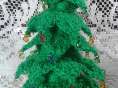 Como hacer un pinito de navidad tejido a crochet