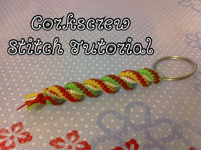 Corkscrew Stitch Tutorial~Gimp.Craft Lace.Boondoggle