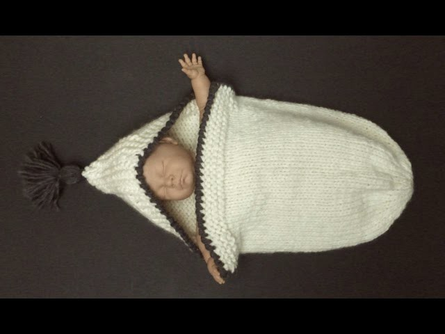 COZY & ROOMY Knitted Sleeping Bag For A Newborn Baby (4 Advanced Beginner)