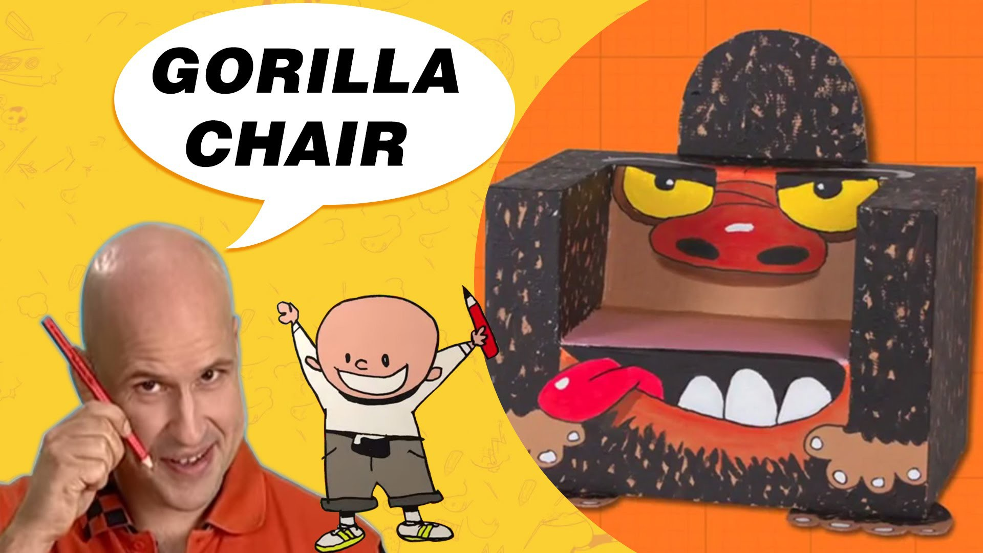 Craft Ideas with Boxes - Gorilla Chair | DIY on BoxYourSelf
