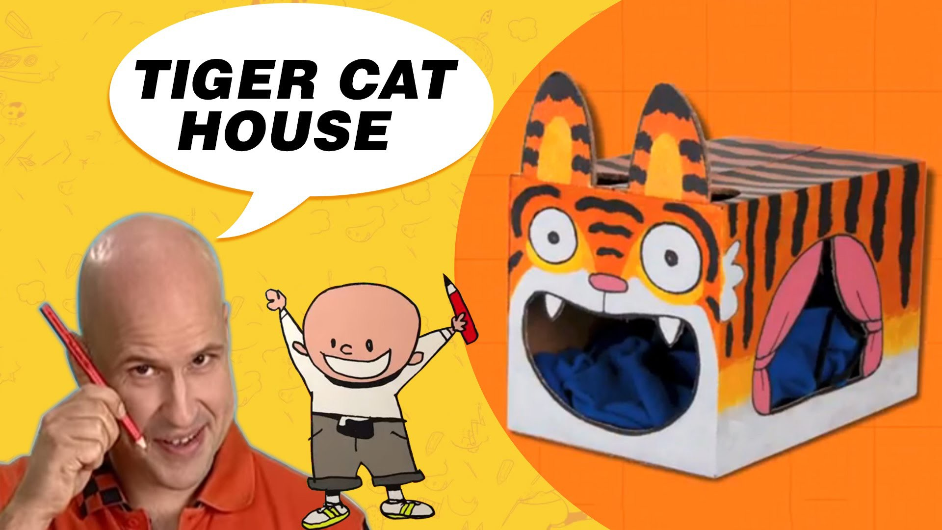 Craft Ideas with Boxes - Tiger Cat House | DIY on BoxYourSelf