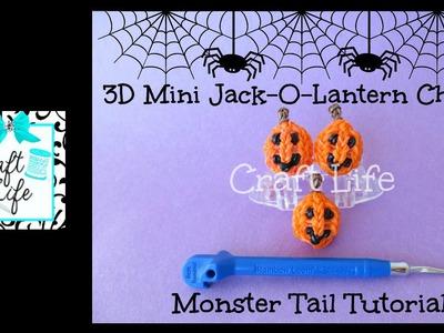 Craft Life 3D Mini Jack-O-Lantern Charm Tutorial on a Rainbow Loom Monster Tail ~ Halloween
