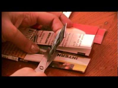 Craft Tutorial 02: Newspaper Coaster - sottobicchiere in carta di giornale