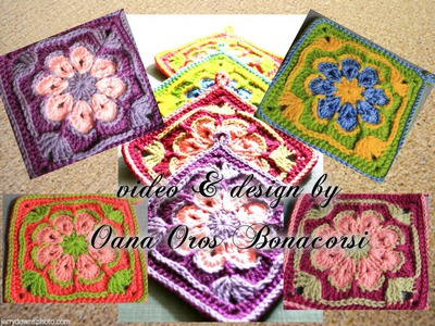 Crochet african flower square