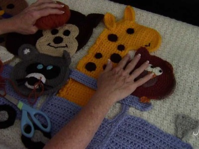 Crochet Applique Pieces - Sewing to Background