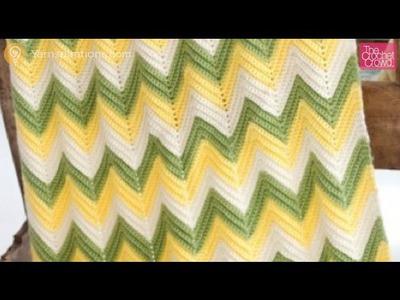 Crochet Baby Zig Zag Afghan