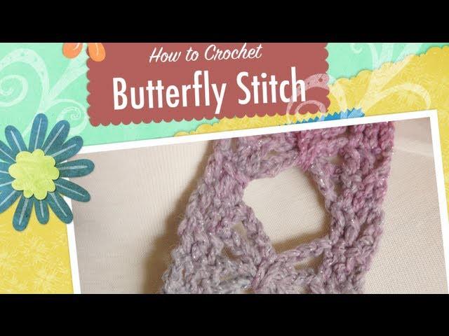 Crochet Butterfly Stitch Scarf Tutorial