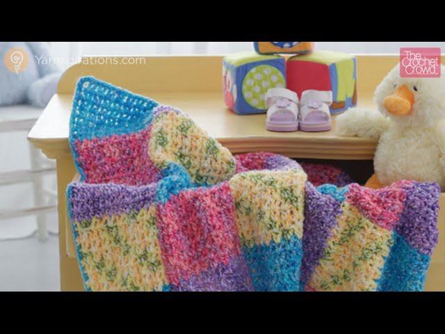 Crochet Color Block Baby Blanket Tutorial