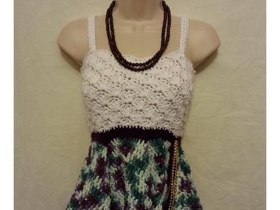 #Crochet Cute Womens Top Blouse Shirt Dress #TUTORIAL