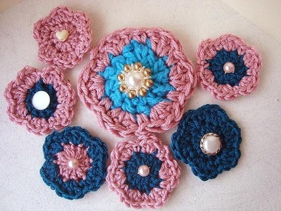 CROCHET FLOWER # 10, easy beginner crochet flower, how to diy