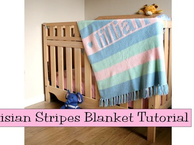 Crochet for Knitters - Tunisian Stripes Blanket