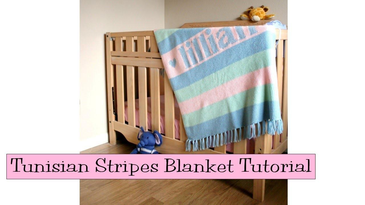 Crochet for Knitters - Tunisian Stripes Blanket