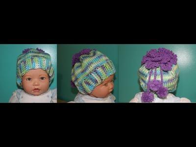 Crochet Gorro De Niña En Crochet Tunecino