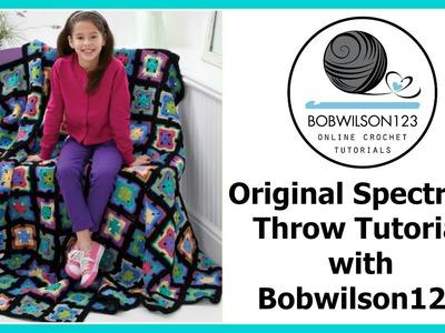 Crochet Granny Square Tutorial - Original Spectrum Throw