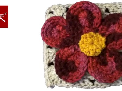 CROCHET GRANNY SQUARE with Flower Julia Free Crochet Pattern Crochet Geek
