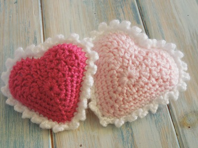 (crochet) How To Crochet a Padded Picot Heart - Valentine Special