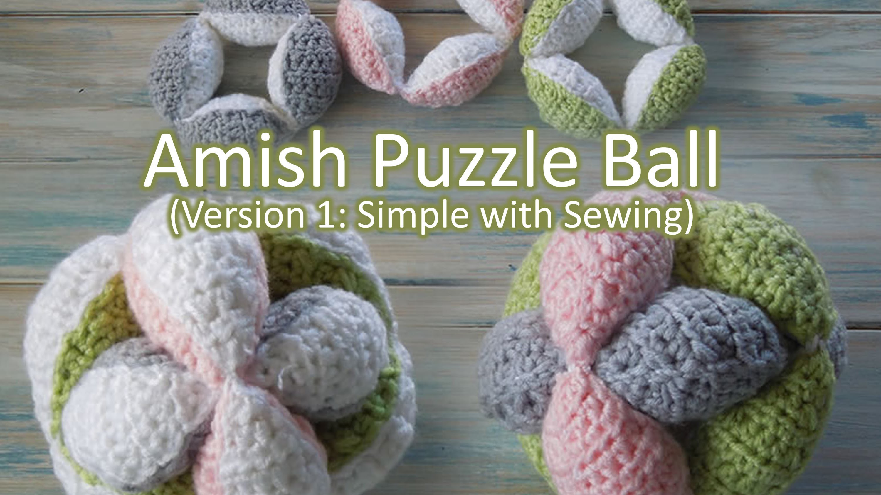 (crochet) How To Crochet an Amish Puzzle Ball - Yarn Scrap Friday