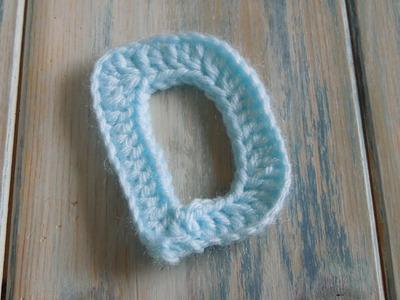 (crochet) How To - Crochet Letters - D - Crochet Extras