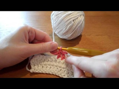 (Crochet) How to join a new color when working in double crochet rows
