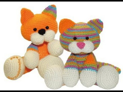 Crochet Knitting animals - 60 amazing animals PART 1 - cats, dogs, rabbits, etc.
