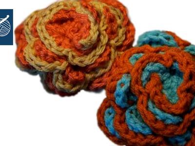 Crochet Spring Rose Flower Left Hand Version Crochet Geek