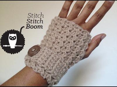 Crochet Tutorial: Moss Stitch Fingerless Mittens