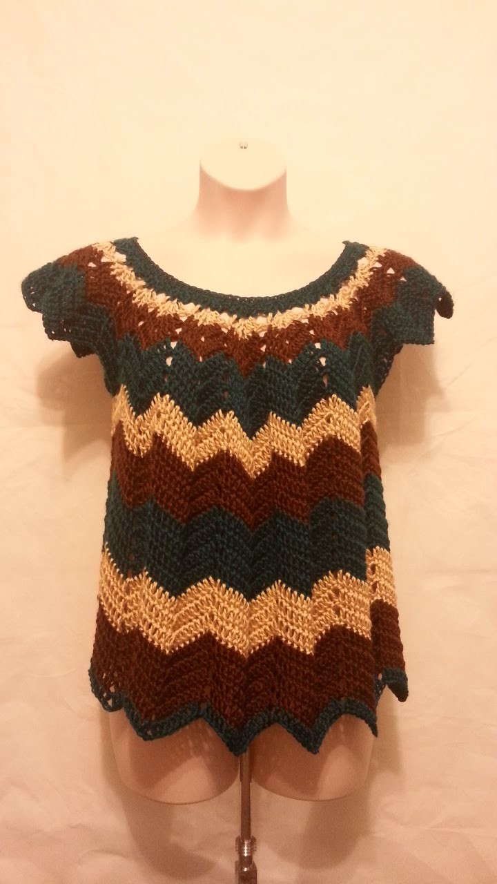 Crochet Womens Plus size Chevron Shirt Top Blouse HD #TUTORIAL