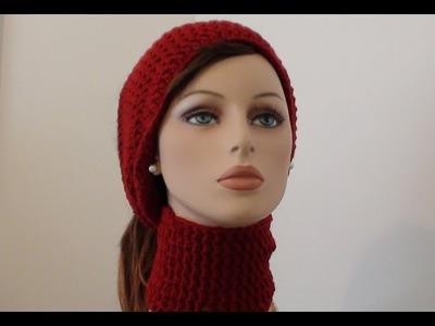 Crocheted Neck Head Wrap - Crochet Hat Scarf