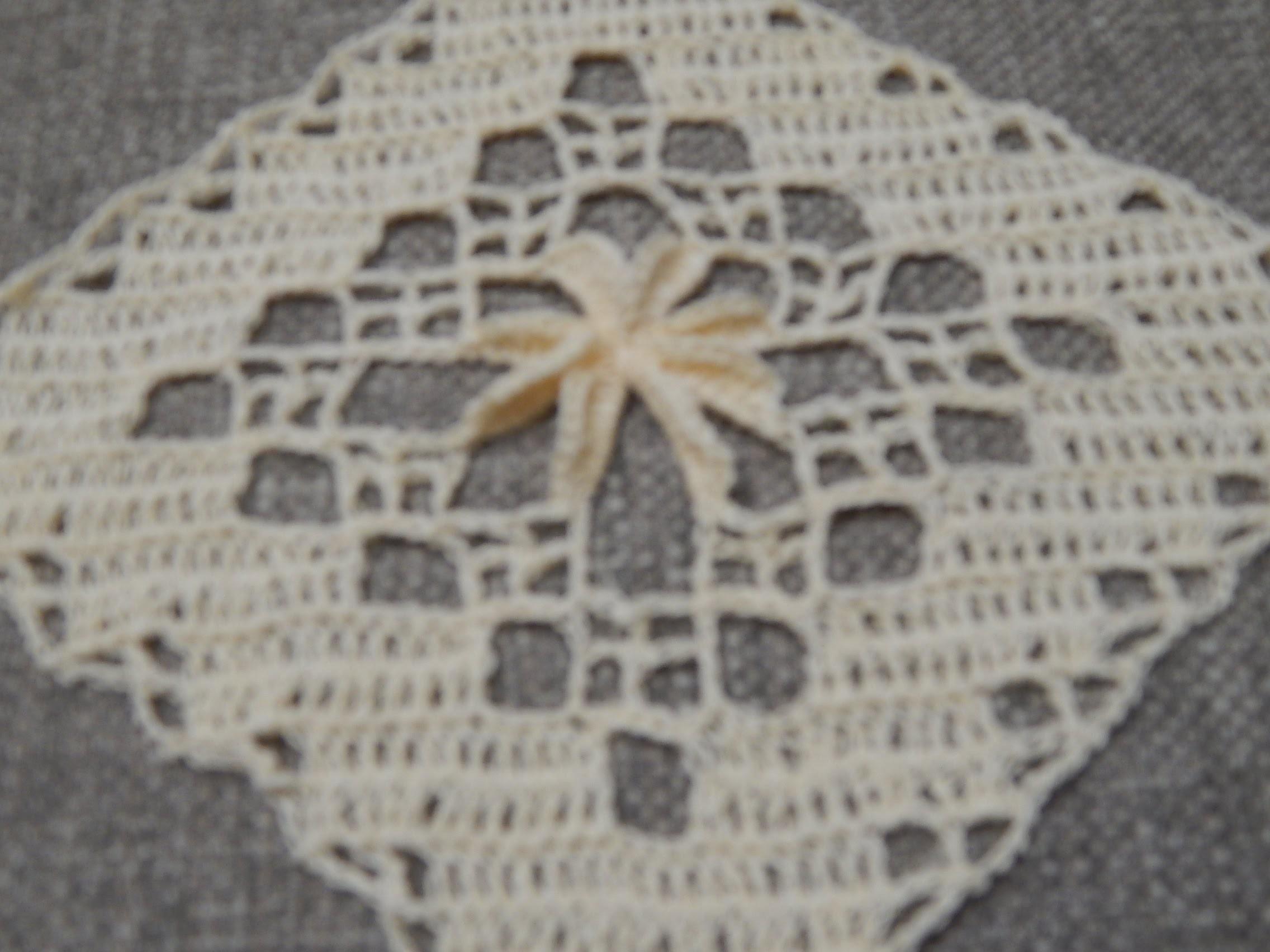 Cuadro Flor 3D Crochet parte 1 de 2