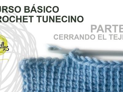 Curso Básico Crochet o Ganchillo Tunecino: Parte 2 Cerrar el tejido
