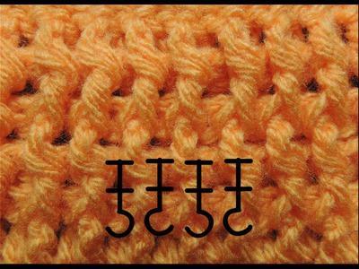 Curso Basico de Crochet : Punto Elastico