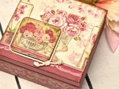 Decoupage box - tutorial  DIY