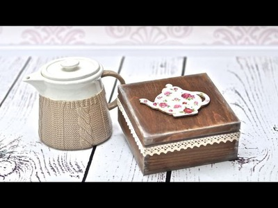 DECOUPAGE pudełko na herbatę - DIY TUTORIAL