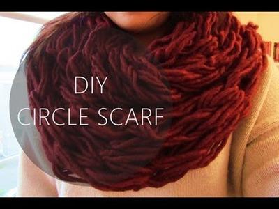 DIY Circle.Infinity Scarf: Arm Knitting | NANCY MAC