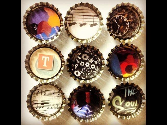 DIY Crafts: Easy Bottle Cap Magnets