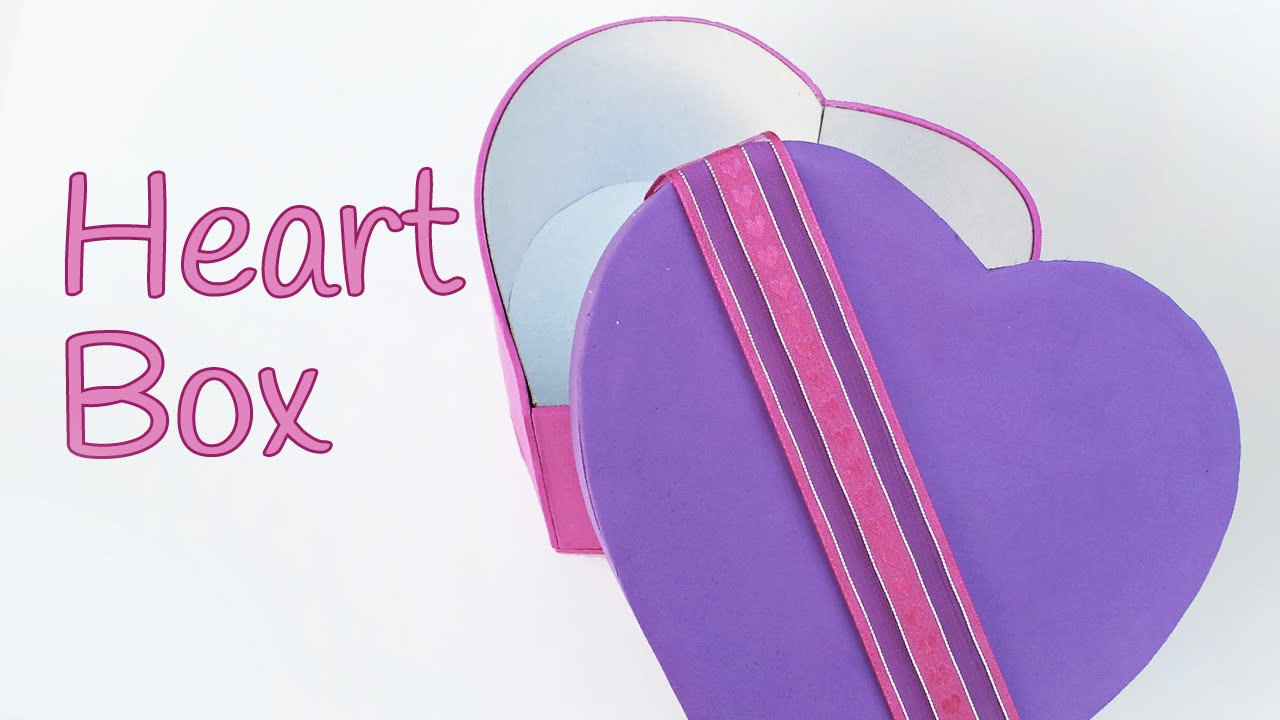 DIY crafts: HEART BOX -  Innova Crafts