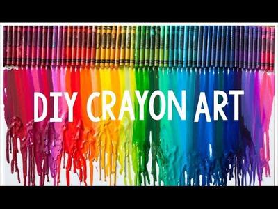 DIY Crayon Art |  Teen Craft