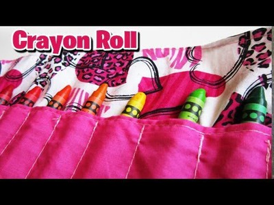 DIY: Crayon Roll Tutorial