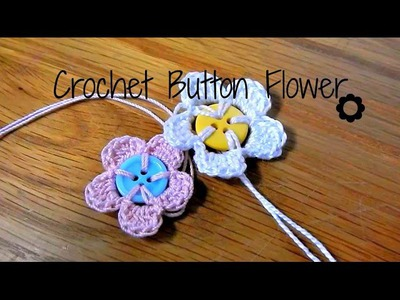 DIY Crochet Button Flower ¦ The Corner of Craft