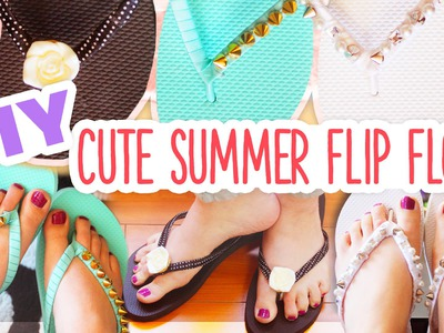 DIY Easy Beaded Flip Flops ~ Cute Spring.Summer Craft!