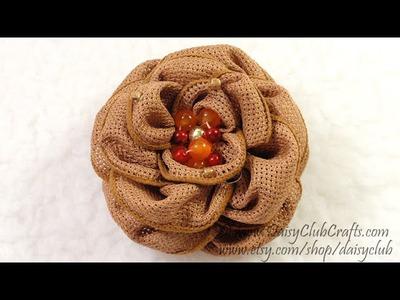 DIY Easy Make Ribbon Flower, Tutorial, How to Make