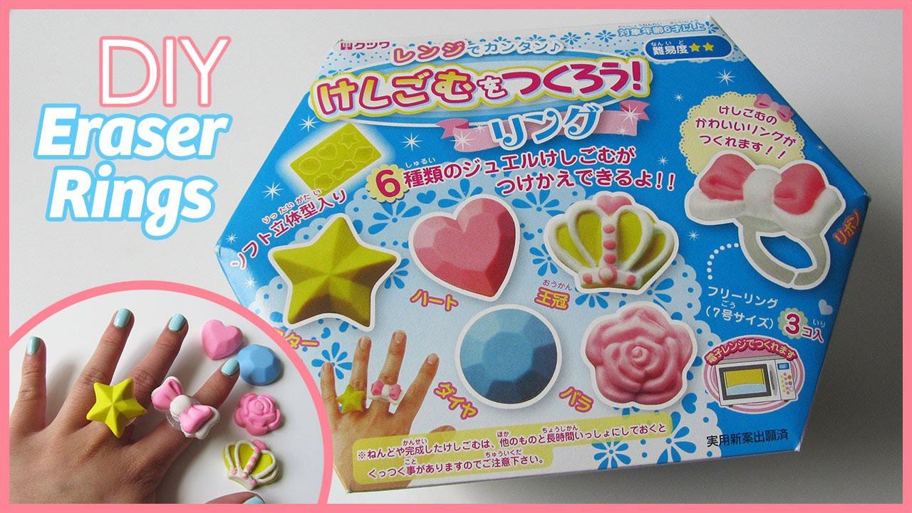 DIY Eraser Rings || Kutsuwa Japanese Eraser Kit