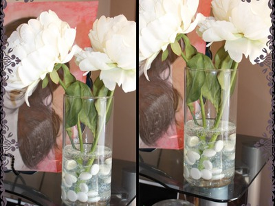 "DIY: Faux ""Water"" Flower Arrangement"